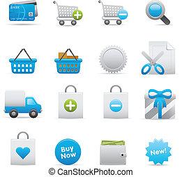 set, shopping, icone, 01, indaco,  