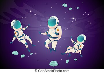 set, spazio, vario, provvedimenti, astronauti