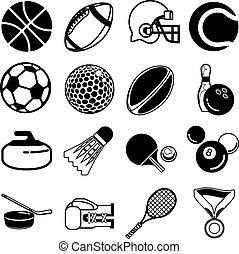 set, sport, icona