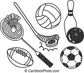 set, sport, palla