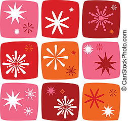 set, stella, natale, icone
