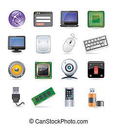 set, tecnologia, icona