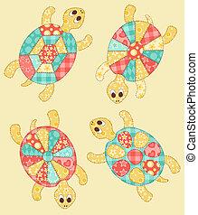 set, turtles.