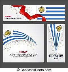 set, uruguay, fondo, bandiera, giorno, indipendenza, felice