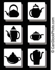 set, vaso, caffè