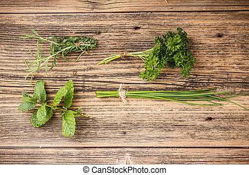 set, verde, erbe