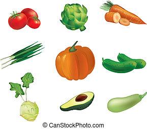 set, verdura
