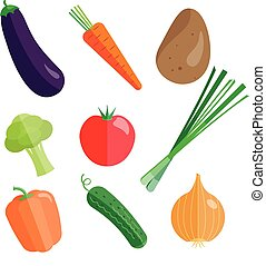 set, verdure fresche