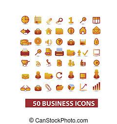 set, vettore, presentazione, icone affari