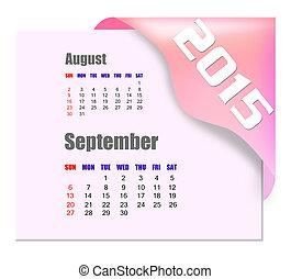 settembre, 2015, calendario, -, serie