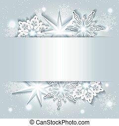 sfavillante, natale, fondo, fiocco di neve