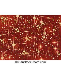 sfavillante, scuro, stars., ardendo, fondo, rosso