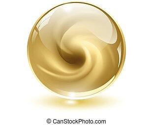 sfera, 3d, cristallo, vetro