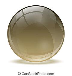 sfera, 3d, cristallo