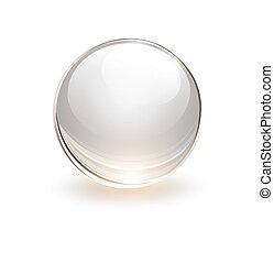 sfera, 3d, vetro