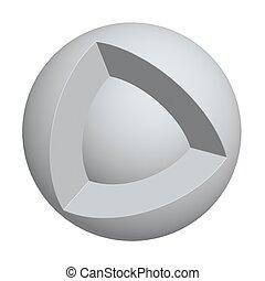 sfera, centro