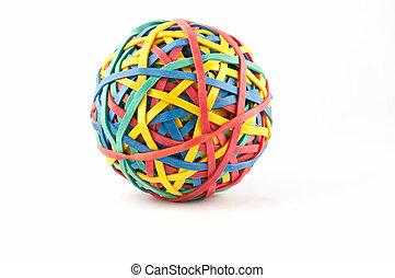 sfera di gomma, banda