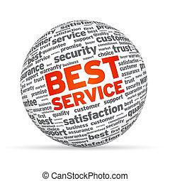 sfera, meglio, servizio, 3d