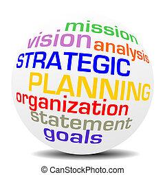 sfera, pianificazione, parola, strategico