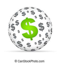 sfera, segno dollaro