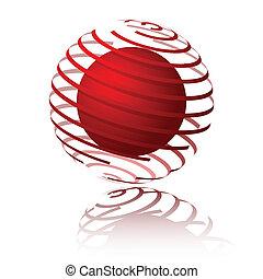 sfera, spirale