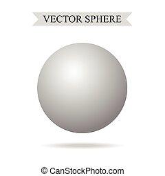sfera, vettore, 3d, illustrazione, realistico