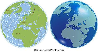 sfere, globo