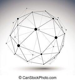 sferico, di, colorare, astratto, illustrazione, singolo, vettore, foderare, 3d