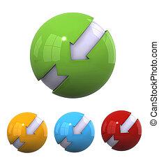 sferico, progetta, 3d