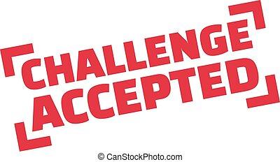 sfida, accettato, francobollo