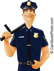sfollagente, poliziotto