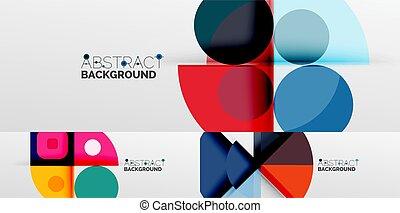 sfondi, altro, minimalista, astratto, elementi, linee, triangoli, squadre, geometrico, rettangoli, fatto, cerchi