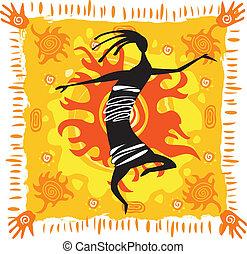 sfondo arancia, figura, ballo