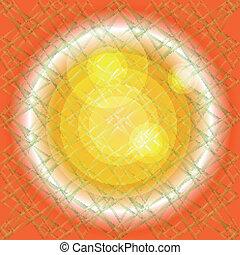 sfondo arancia, struttura