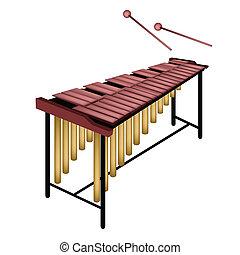 sfondo bianco, isolato, marimba, musicale