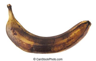 sfondo bianco, isolato, maturo, banana