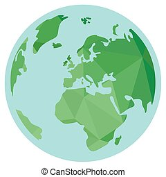 sfondo bianco, vettore, terra, pianeta, isolato