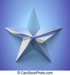 sfondo blu, inargentare stella, icona