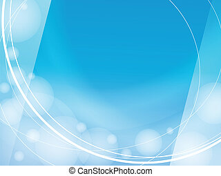 sfondo blu, luce, cornice, disegno, sagoma, onde