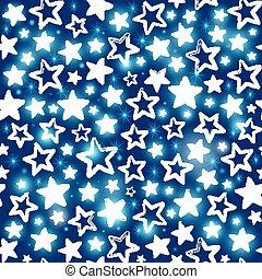 sfondo blu, modello, seamless, stelle, lucente