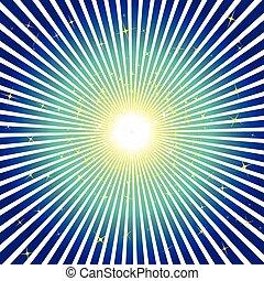 sfondo blu, stelle, scoppio