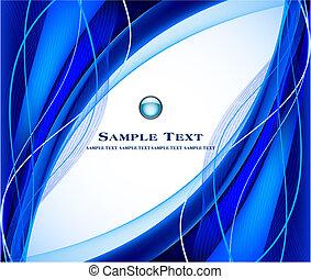 sfondo blu, vettore, astratto