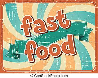 sfondo cibo, retro, digiuno, style.