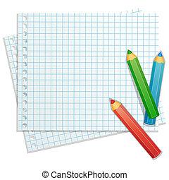 sfondo colore, matite