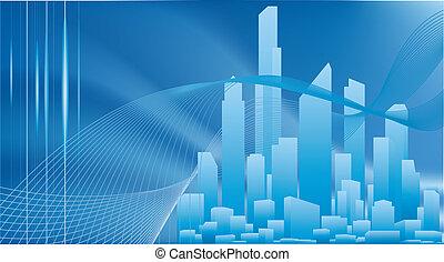 sfondo concettuale, affari città