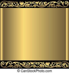 sfondo dorato, astratto, (vector)