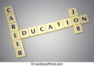 sfondo grigio, carriera, educazione, lavoro, parole