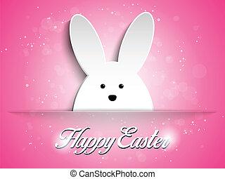 sfondo rosa, coniglio, coniglietto pasqua, felice