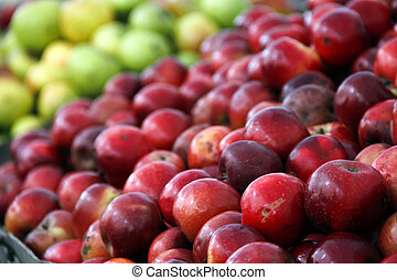 sfondo rosso, mele, mela, blu, casato