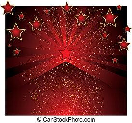 sfondo rosso, stelle